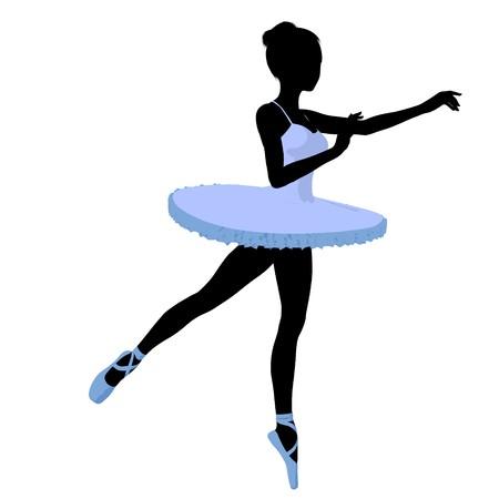 Ballerina silhouette on a white background Reklamní fotografie