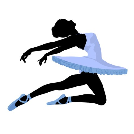 Ballerina silhouette on a white background Zdjęcie Seryjne - 7730953