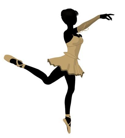 Ballerina silhouette on a white background Zdjęcie Seryjne