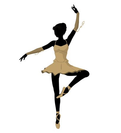Ballerina silhouette on a white background Zdjęcie Seryjne - 7730567