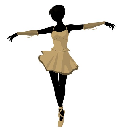 Ballerina silhouette on a white background Stock Photo - 7730596