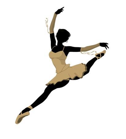 Ballerina silhouette on a white background Stock Photo