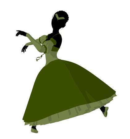 flexible woman: Ballerina silhouette on a white background Stock Photo