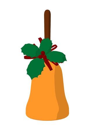 Christmas bell on a white background Фото со стока