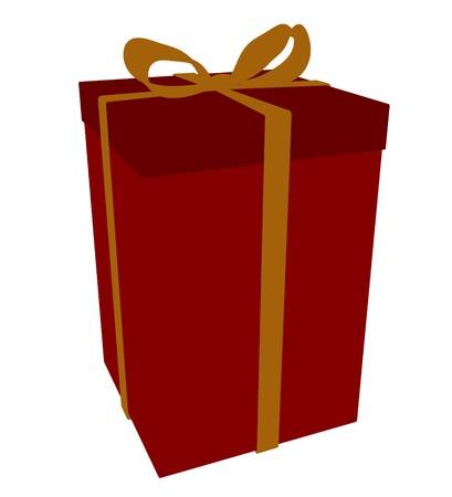 Confezione regalo su uno sfondo bianco Archivio Fotografico - 7731142
