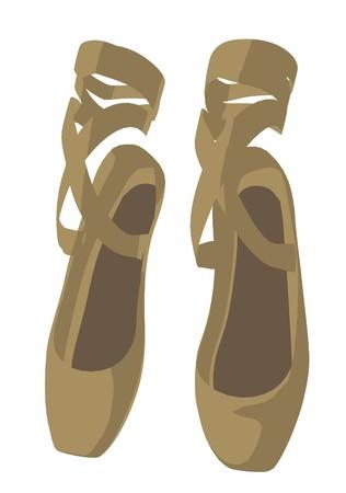 zapatillas ballet: Zapatillas de ballet sobre un fondo blanco  Foto de archivo