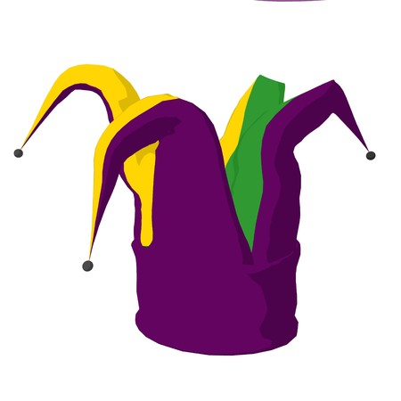 jester hat: Jester hat on a white background