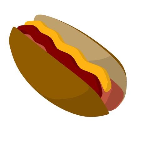 Hot dog on a white background