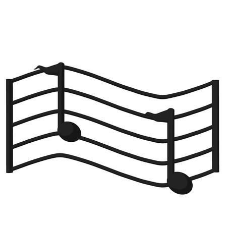 白い背景の上の音階のイラスト 写真素材