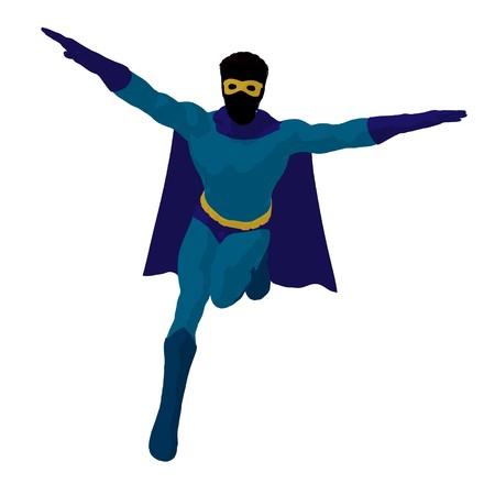 archnemesis: hero silhouette on a white background Stock Photo