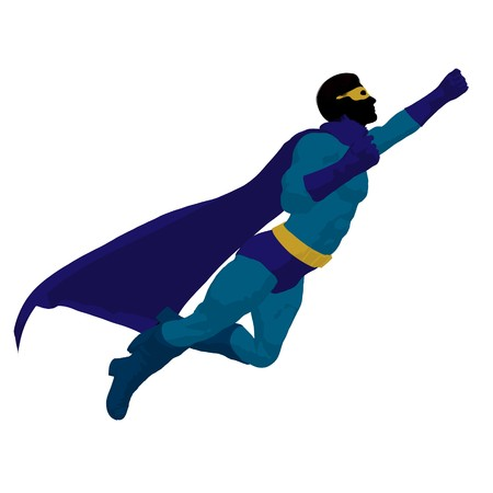 hero silhouette on a white background