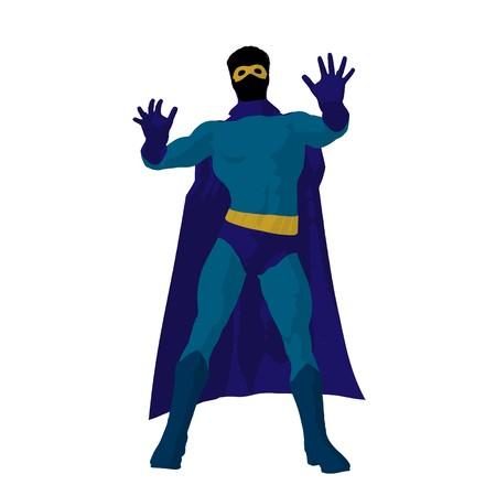 hero silhouette on a white background photo