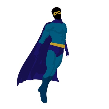 archnemesis:   hero silhouette on a white background