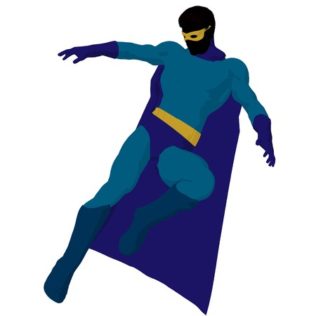 hero silhouette on a white background photo