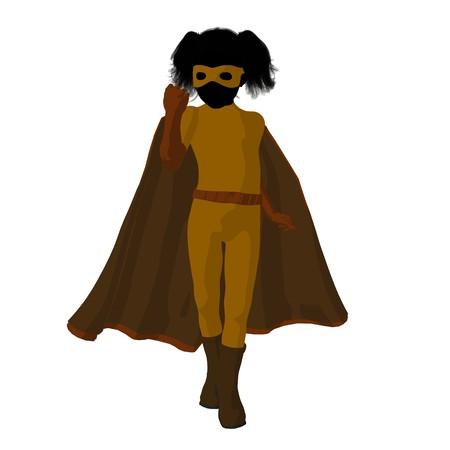 archnemesis:   hero girl silhouette on a white background Stock Photo