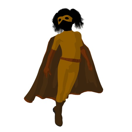archnemesis:  hero girl silhouette on a white background