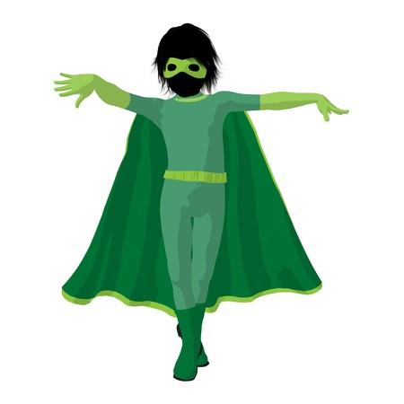 archnemesis:  hero boy silhouette on a white background