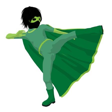 archnemesis: hero boy silhouette on a white background Stock Photo