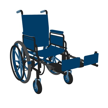Wheelchair illustration on a white background Imagens