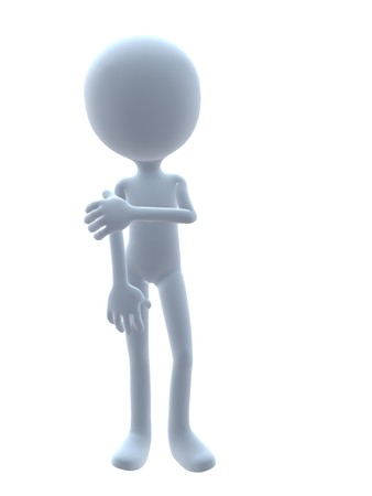 businesses: 3D guy on a white background