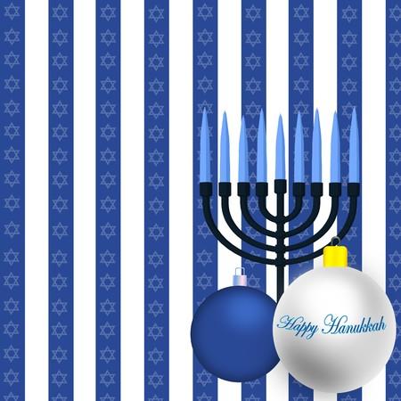 Happy Hanukkah Illustration Stock Illustration - 8087040