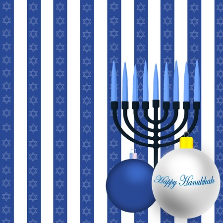 Happy Hanukkah Illustration Stock Illustration - 8087040