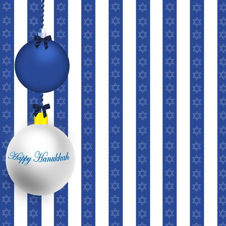 menora: Happy Hanukkah Illustration Stock Photo