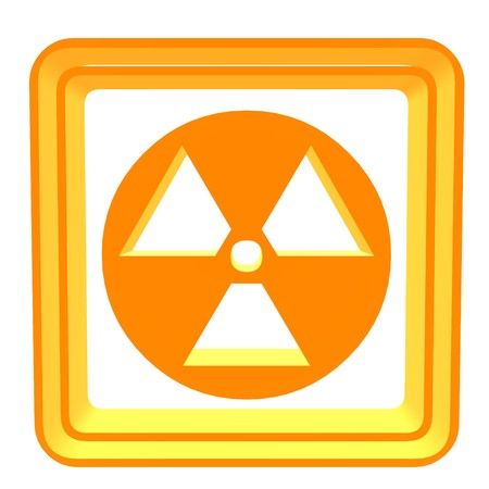 hazard: 3D bio hazard symbol on a white background