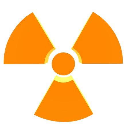 3D bio hazard symbol on a white background Stock Photo - 8086756