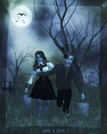 Gothic jack n jill nursery rythmes Stock Photo - 8087101
