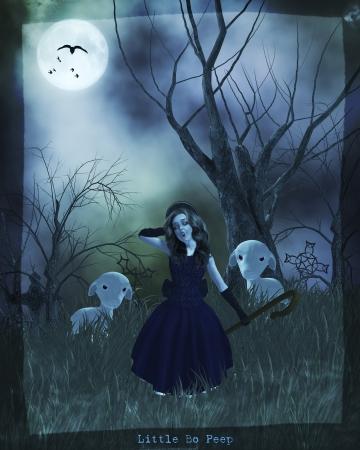 goth: Gothic little bo peep nursery rythme
