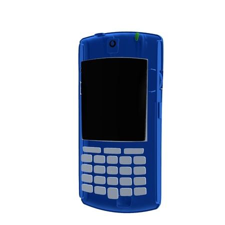 3D mobile phone a white background photo