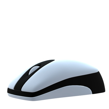 3D computer mouse on a white background Stock fotó