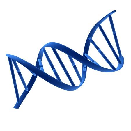 Blauwe dna illustratie op een witte achtergrond