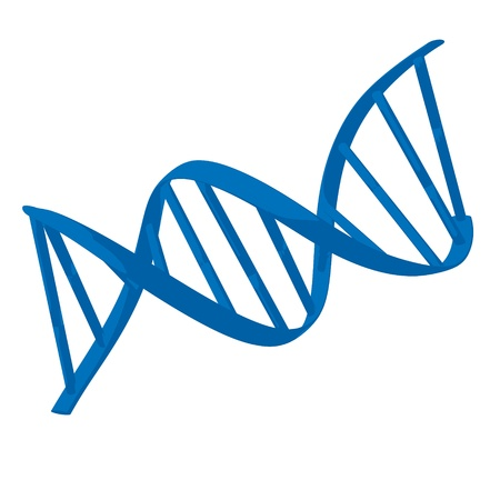 Blue dna illustration on a white background