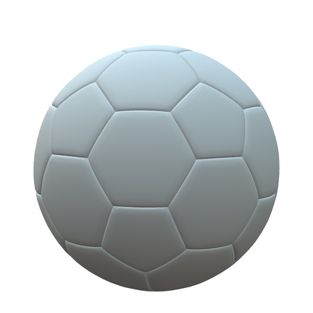 3d ball: 3D soccer ball on a white background Stock Photo