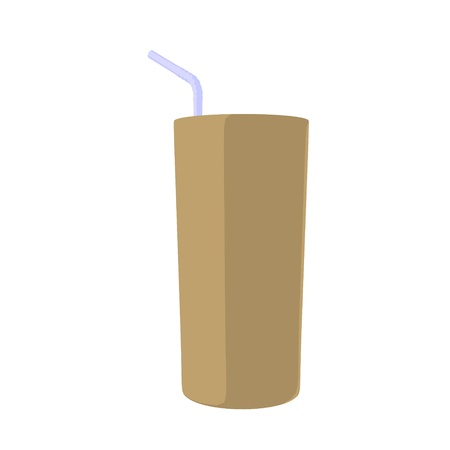 Drink with a straw illustration on a white background Stock Illustration - 8618893