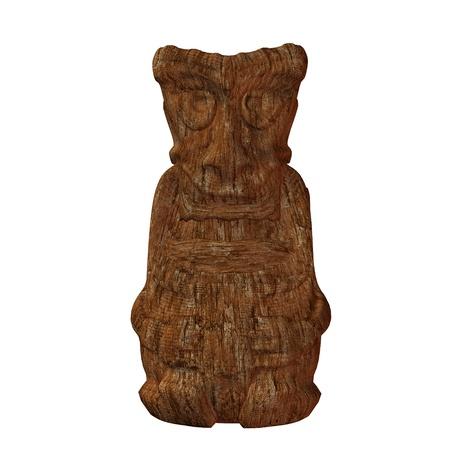 Tiki statue illustration on a white background Stock Illustration - 8620302