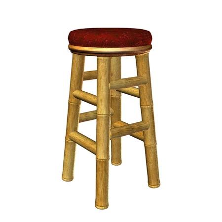 Tiki bar stool illustration on a white background Stock Illustration - 8620283