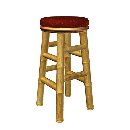 bar stool: Tiki bar stool illustration on a white background