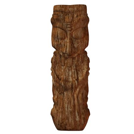 Tiki statue illustration on a white background Stock Illustration - 8620300