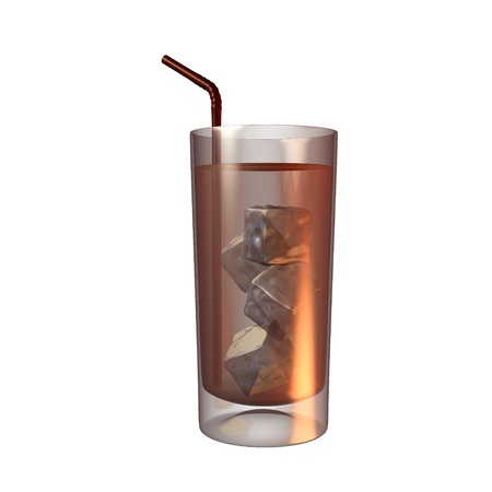 Drink with a straw illustration on a white background Stock Illustration - 8620197