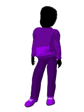 cargo pants: African american teen urban male dressed in casual clothes on a white background