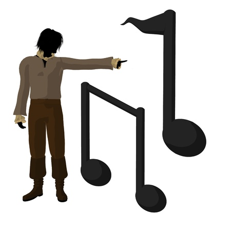beethoven: Ludwig van Beethoven musical notes on a white background Archivio Fotografico
