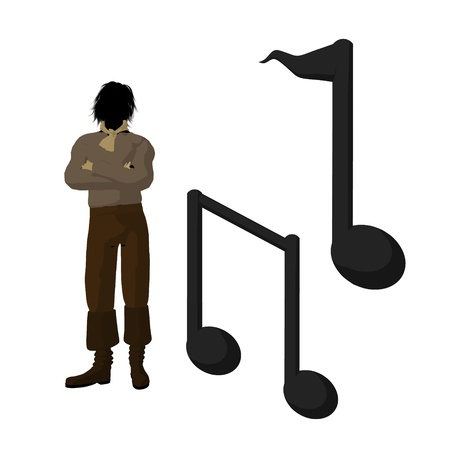 Ludwig van Beethoven musical notes on a white background Imagens