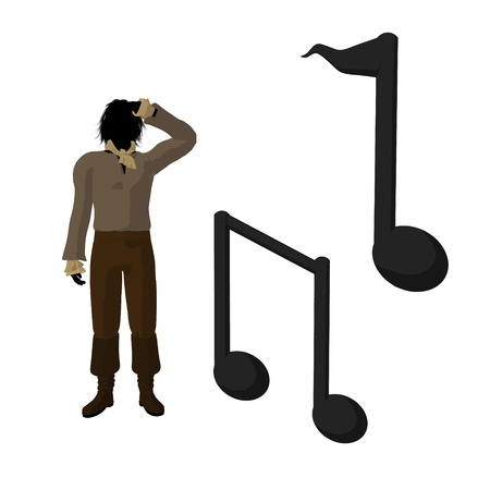 Ludwig van Beethoven musical notes on a white background Stock Photo - 9399936