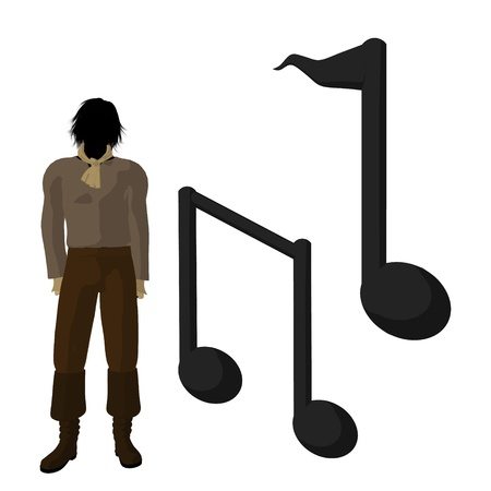 beethoven: Ludwig van Beethoven musical notes on a white background Stock Photo