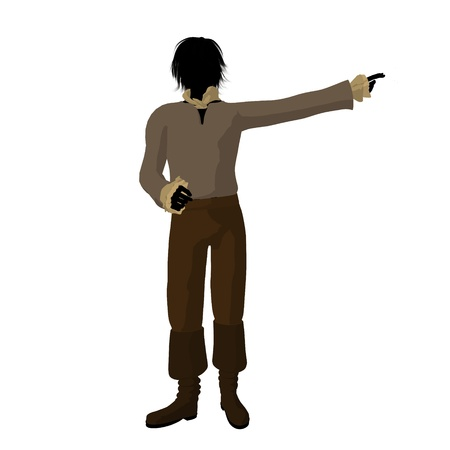 Ludwig van Beethoven silhouette on a white background