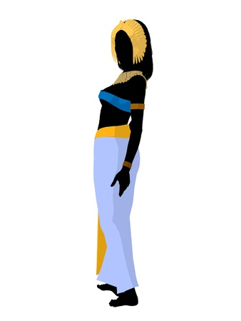 cleopatra: Cleopatra silhouette on a white background