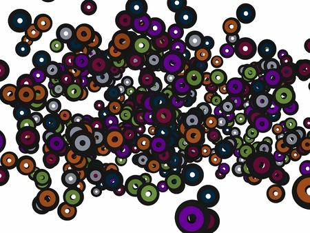 Music Records fliegen auf einem weißen Hintergrund Standard-Bild - 10459332